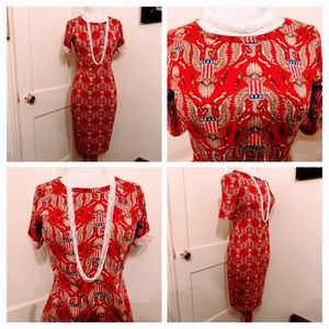Patriotic LuLaRoe Julia Pencil Dress Sz S
